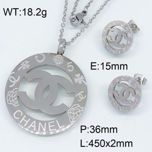 Stainless steel necklace women set